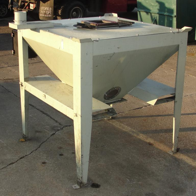 Material Handling Equipment tote dumper, 2500 lbs. IMCS Inc. model J19247, 25 w x 30 l x 33 t10