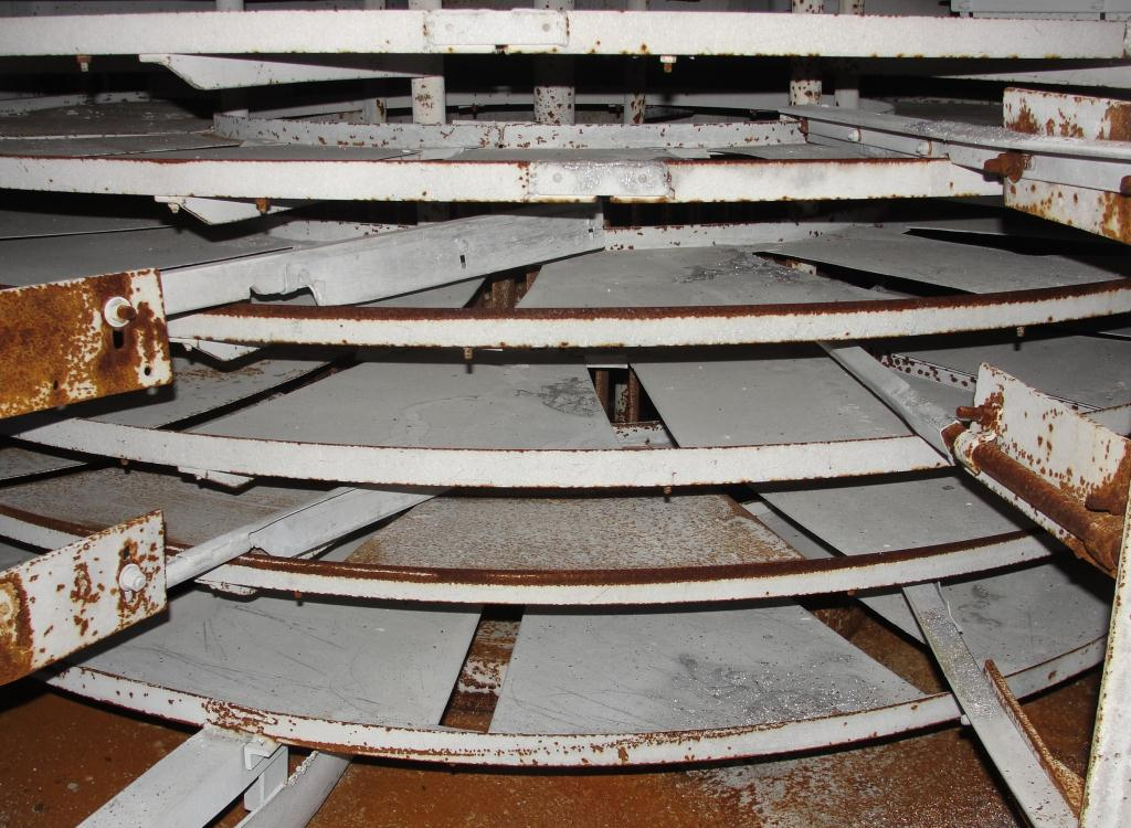 Dryer Wyssmont rotary tray dryer 17 shelves, 78 tray diameter, natural gas heat, Stainless Steel Contact Parts3