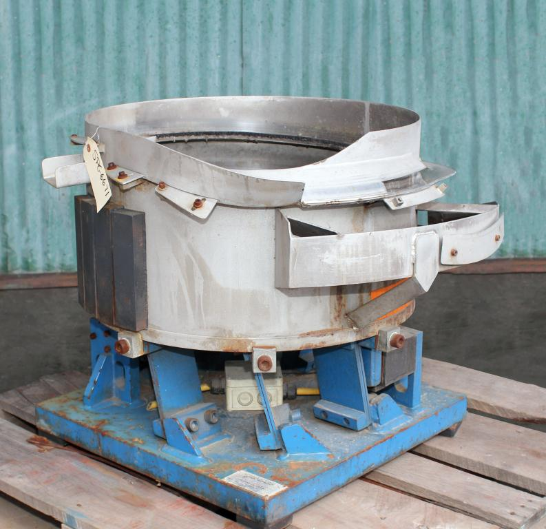Feeder 36 Moorfeed Corp. vibratory bowl feeder Stainless Steel Contact Parts