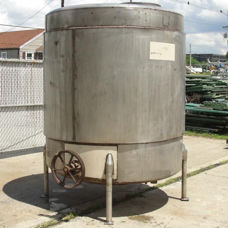 Tank 1000 gallon vertical tank, Stainless Steel, flat bottom6