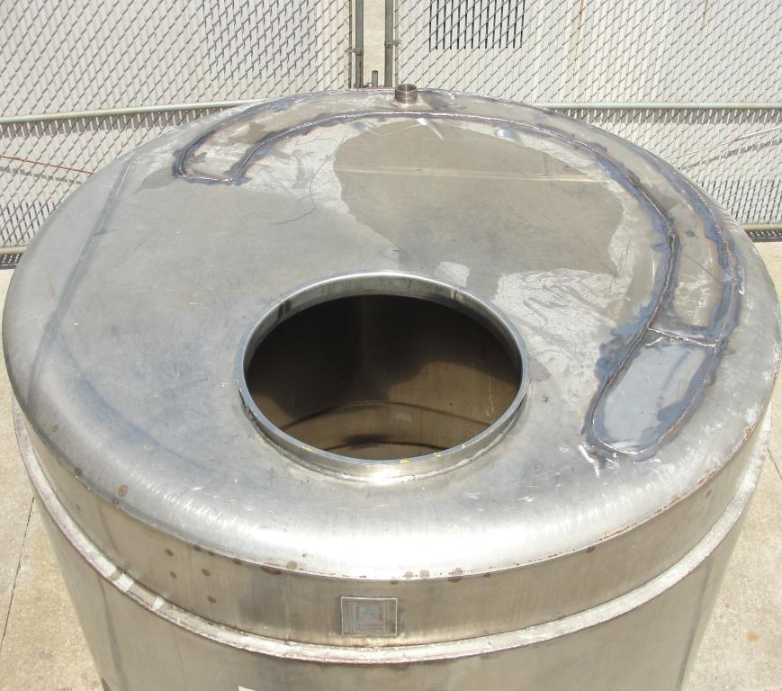 Tank 1000 gallon vertical tank, Stainless Steel, flat bottom8