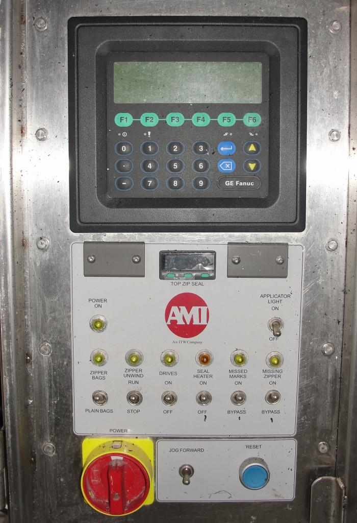 Form Fill and Seal AMI vertical form fill seal model TopZip D-2500-25, 60 bpm7