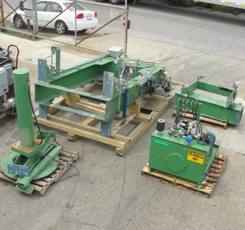 Mixer and Blender 40 diameter FCF-Bowers change can discharge press model TP-75-40, 50.5 stroke (in.)2