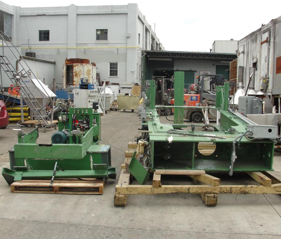 Mixer and Blender 40 diameter FCF-Bowers change can discharge press model TP-75-40, 50.5 stroke (in.)3