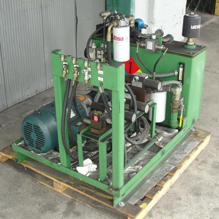 Mixer and Blender 40 diameter FCF-Bowers change can discharge press model TP-75-40, 50.5 stroke (in.)4