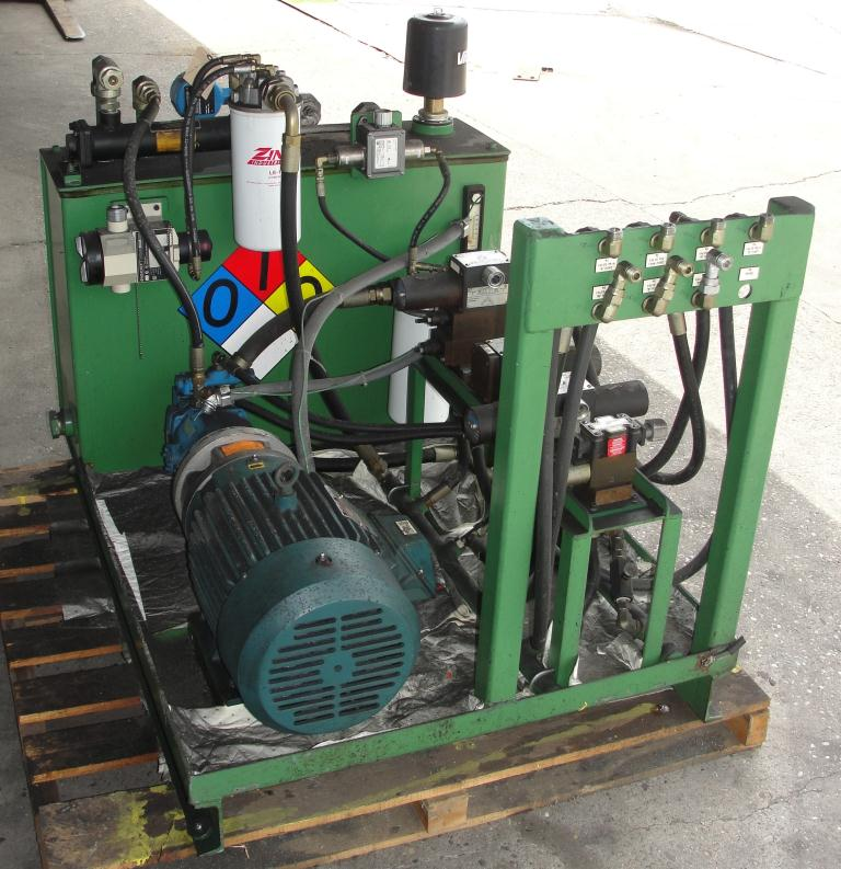 Mixer and Blender 40 diameter FCF-Bowers change can discharge press model TP-75-40, 50.5 stroke (in.)5