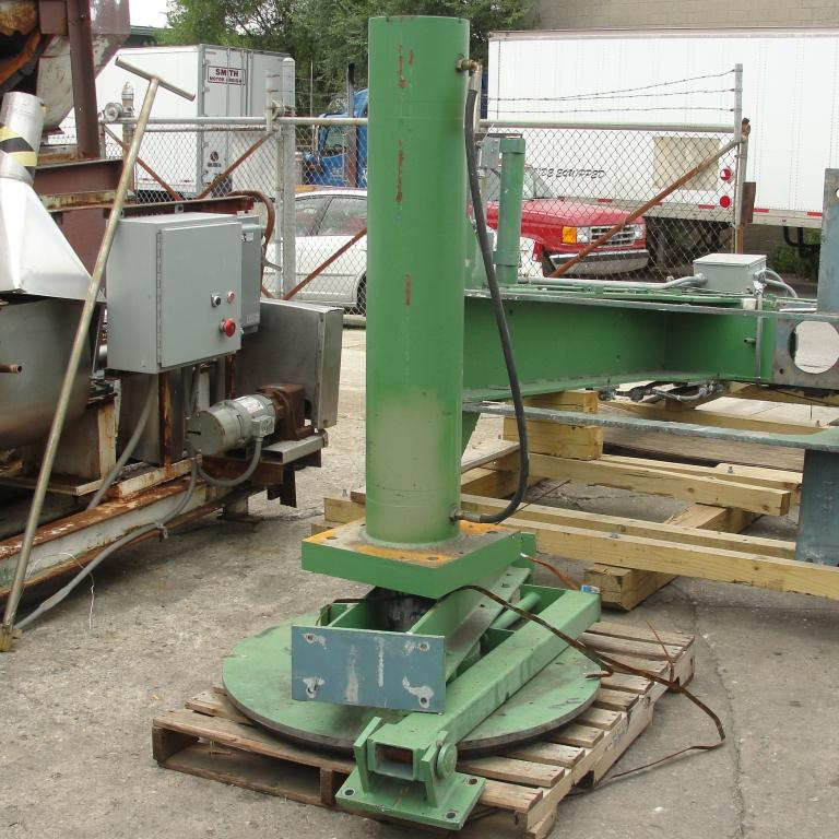 Mixer and Blender 40 diameter FCF-Bowers change can discharge press model TP-75-40, 50.5 stroke (in.)10