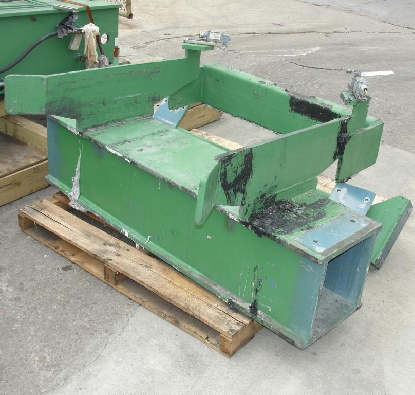 Mixer and Blender 40 diameter FCF-Bowers change can discharge press model TP-75-40, 50.5 stroke (in.)11