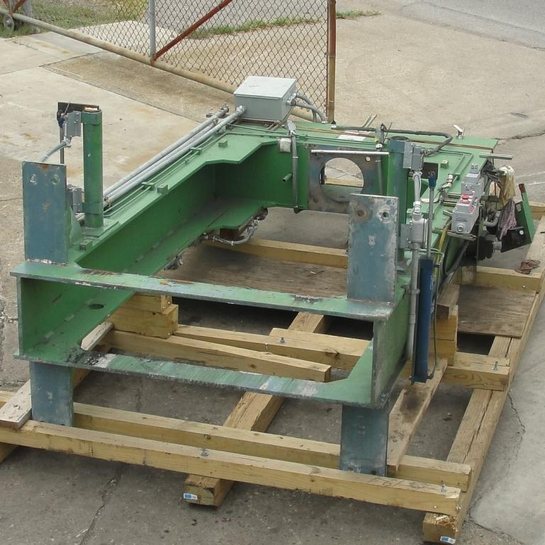 Mixer and Blender 40 diameter FCF-Bowers change can discharge press model TP-75-40, 50.5 stroke (in.)13