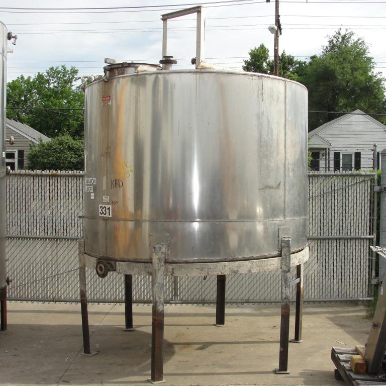 Tank 1530 gallon vertical tank, 304 SS, slope bottom5
