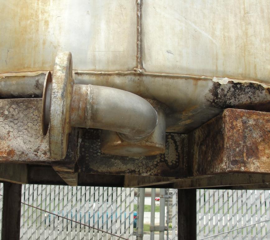Tank 1580 gallon vertical tank, 304 SS, slope Bottom4
