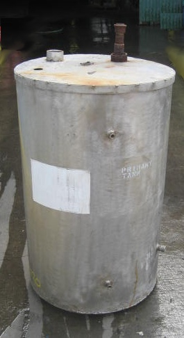 Tank 60 gallon vertical tank, Stainless Steel, flat Bottom