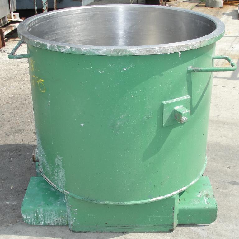 Mixer and Blender 125 gallon Ross change can Stainless Steel 39.25 inside diameter 31.5 inside height6