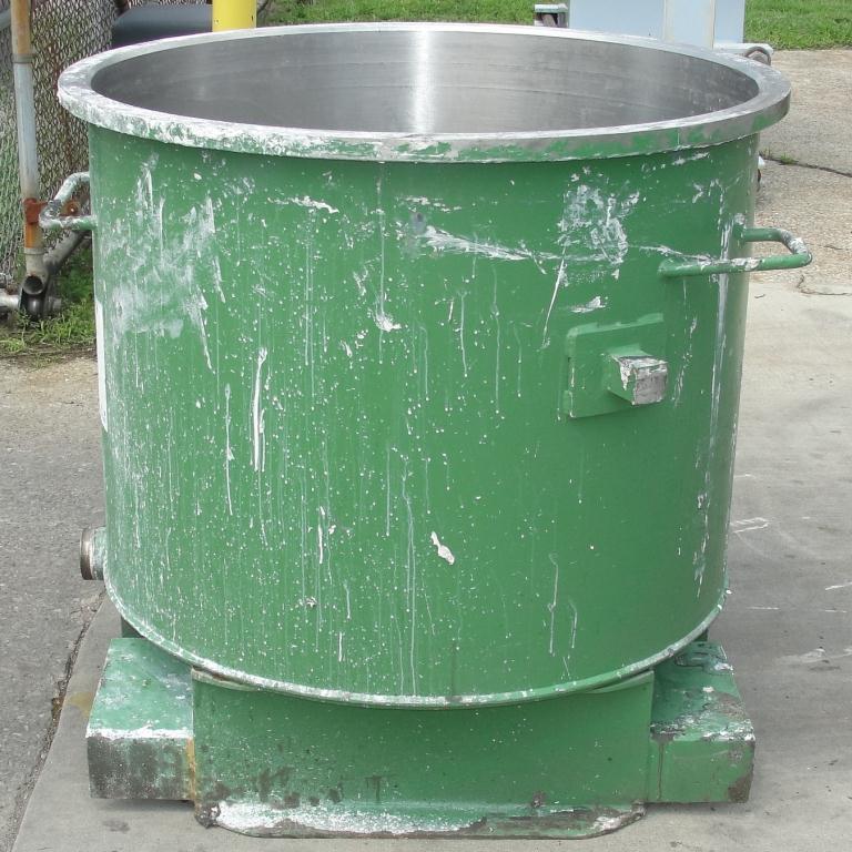 Mixer and Blender 125 gallon Ross change can Stainless Steel 39.25 inside diameter 31.5 inside height3
