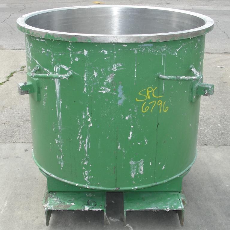 Mixer and Blender 125 gallon Ross change can Stainless Steel 39.25 inside diameter 31.5 inside height4