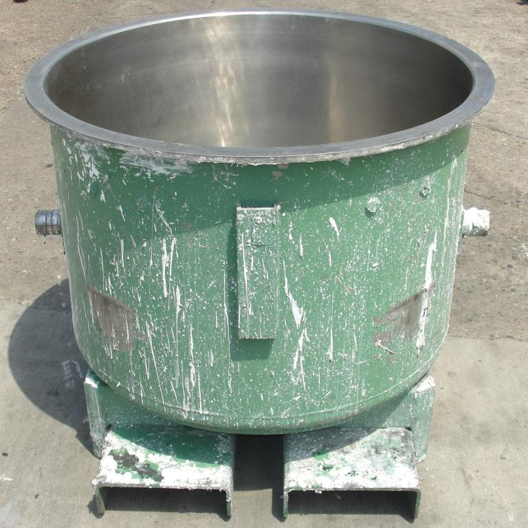 Mixer and Blender 100 gallon Ross change can Stainless Steel 39.25 inside diameter 27.5 inside height4