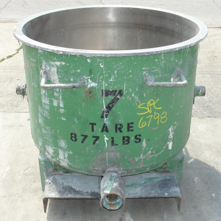 Mixer and Blender 100 gallon Ross change can Stainless Steel 39.25 inside diameter 27.5 inside height1