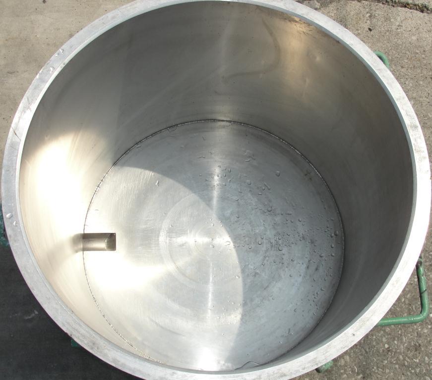 Mixer and Blender 125 gallon Ross change can Stainless Steel 39.25 inside diameter 31.5 inside height2
