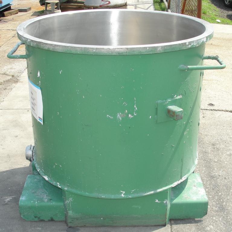 Mixer and Blender 125 gallon Ross change can Stainless Steel 39.25 inside diameter 31.5 inside height5