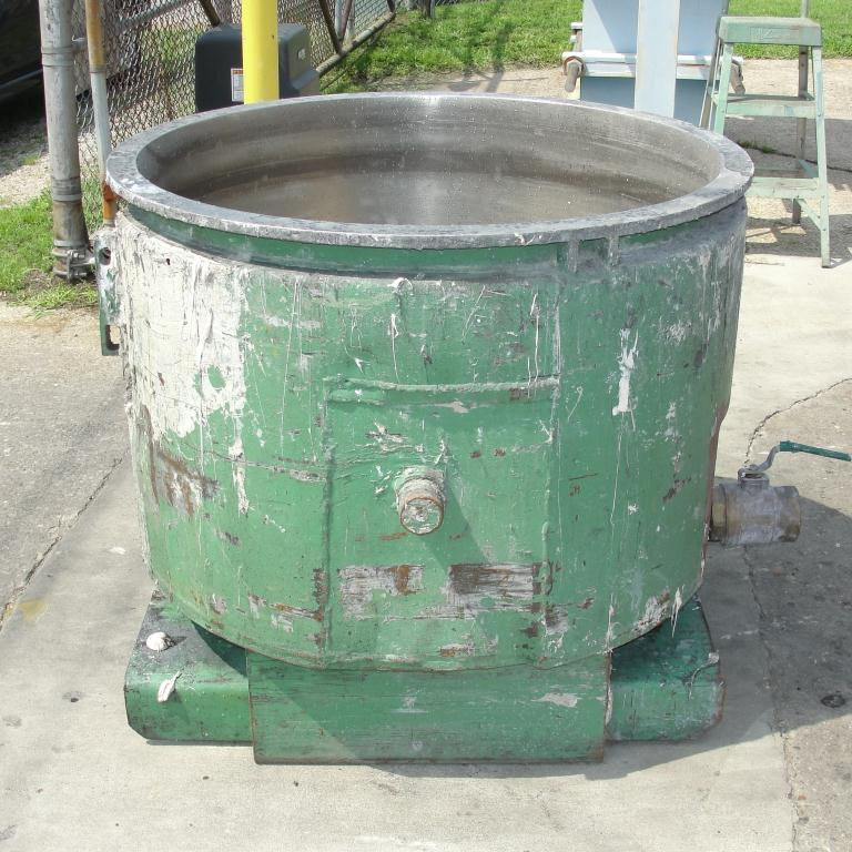 Mixer and Blender 100 gallon Ross change can Stainless Steel 39.25 inside diameter 27.5 inside height3