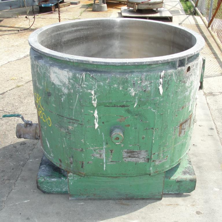 Mixer and Blender 100 gallon Ross change can Stainless Steel 39.25 inside diameter 27.5 inside height5