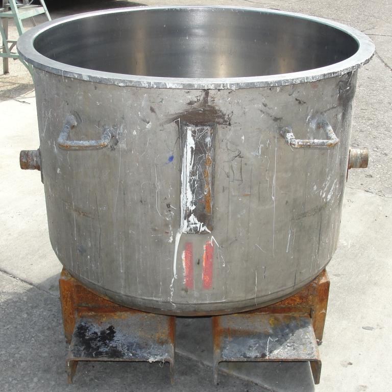 Mixer and Blender 100 gallon Ross change can Stainless Steel 39.25 inside diameter 27.5 inside height4