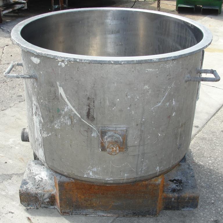 Mixer and Blender 100 gallon Ross change can Stainless Steel 39.25 inside diameter 27.5 inside height5