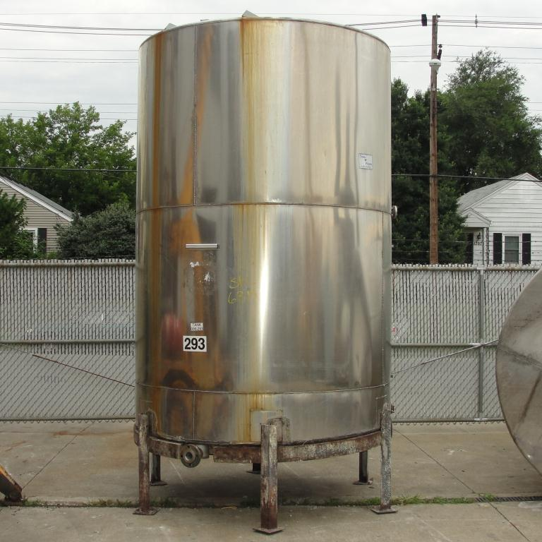 Tank 2040 gallon vertical tank, Stainless Steel, slope bottom1