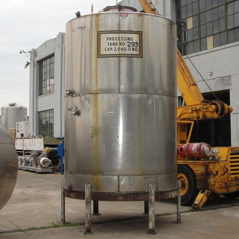 Tank 2040 gallon vertical tank, Stainless Steel, slope bottom5