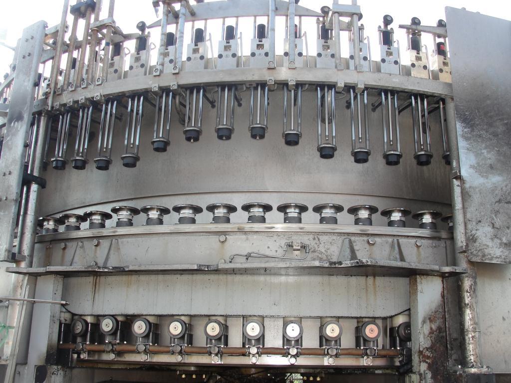 Filler 96 valve KHS liquid gravity filler model Compacta-Tronic monoblock, 5.56 centers, 580 bpm3