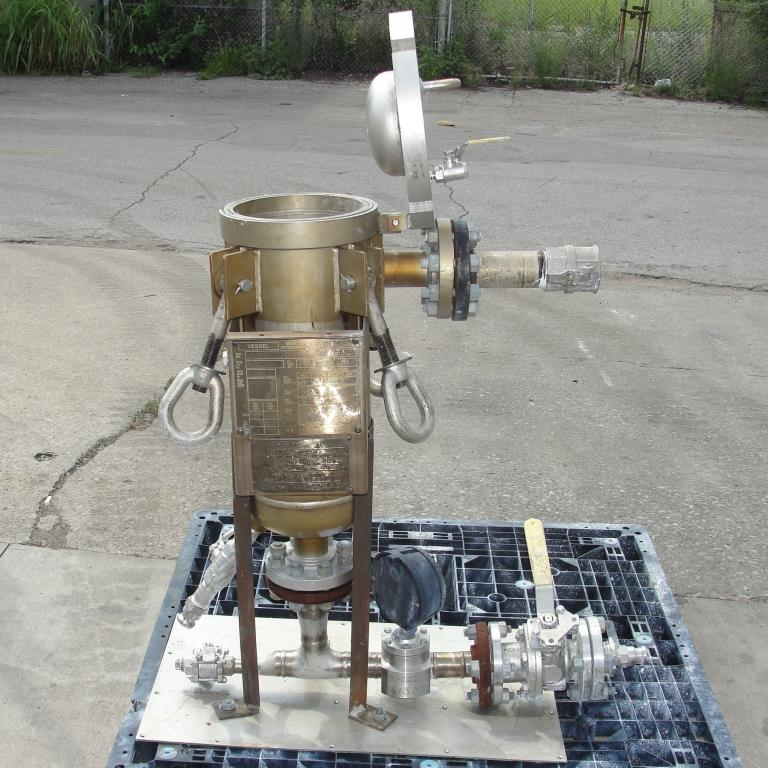 Filtration Equipment 600 psi @ 200° F Strainrite basket strainer (single), 6 gallon capacity, model UF 1-90, 316 SS4