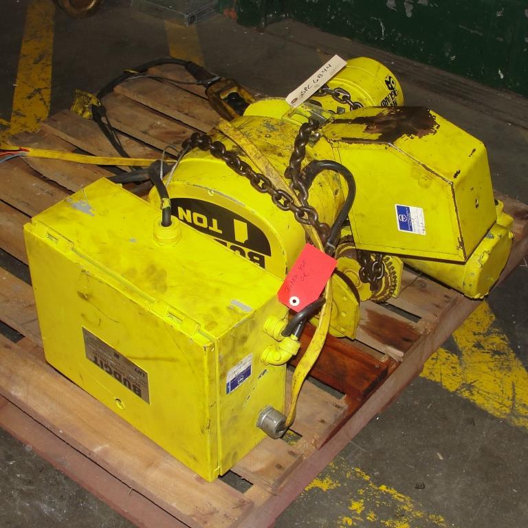 Material Handling Equipment chain hoist, 2000 lbs. Budgit model 11689957, 102