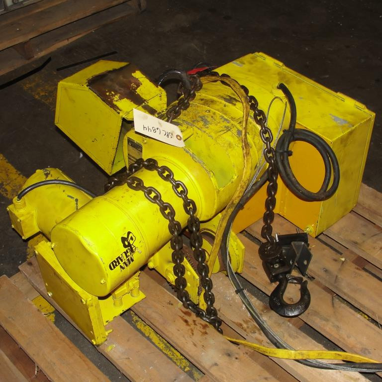 Material Handling Equipment chain hoist, 2000 lbs. Budgit model 11689957, 103