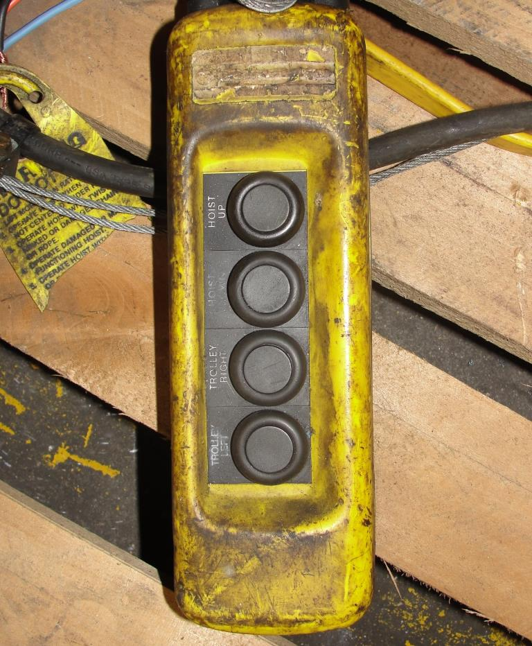 Material Handling Equipment chain hoist, 2000 lbs. Budgit model 11689957, 104