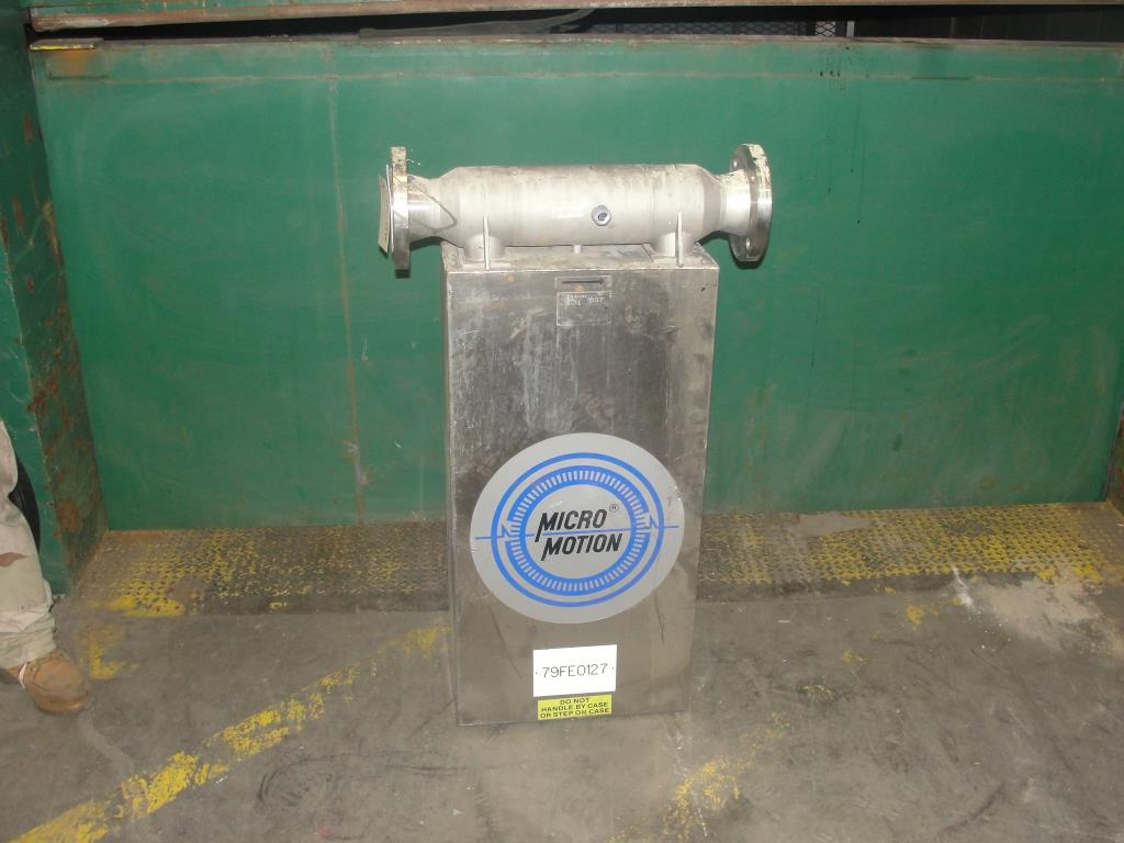 Miscellaneous Equipment 3 MicroMotion model D300S-SS-A150 mass flow meter up to 7000 lbs/min flow range Stainless Steel