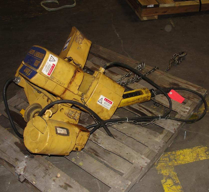Material Handling Equipment chain hoist, 2000 lbs. ACCO model 2101360, 10 chain2