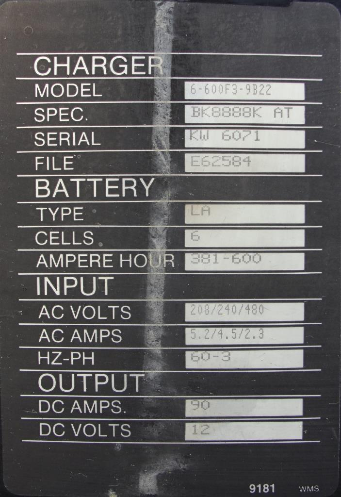 Miscellaneous Equipment battery charger, 12 volts Hawker Batteries 90 dc amps6
