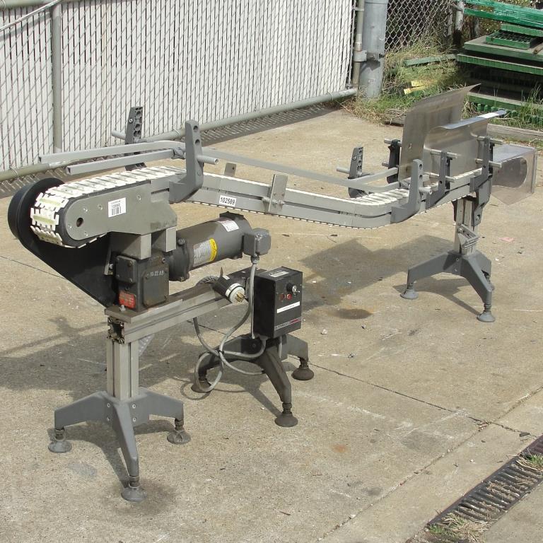 Conveyor inclined belt conveyor Aluminum, 4 w x 92 l, 32.75 discharge height2