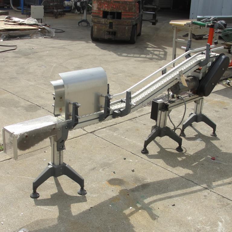 Conveyor inclined belt conveyor Aluminum, 4 w x 92 l, 32.75 discharge height4