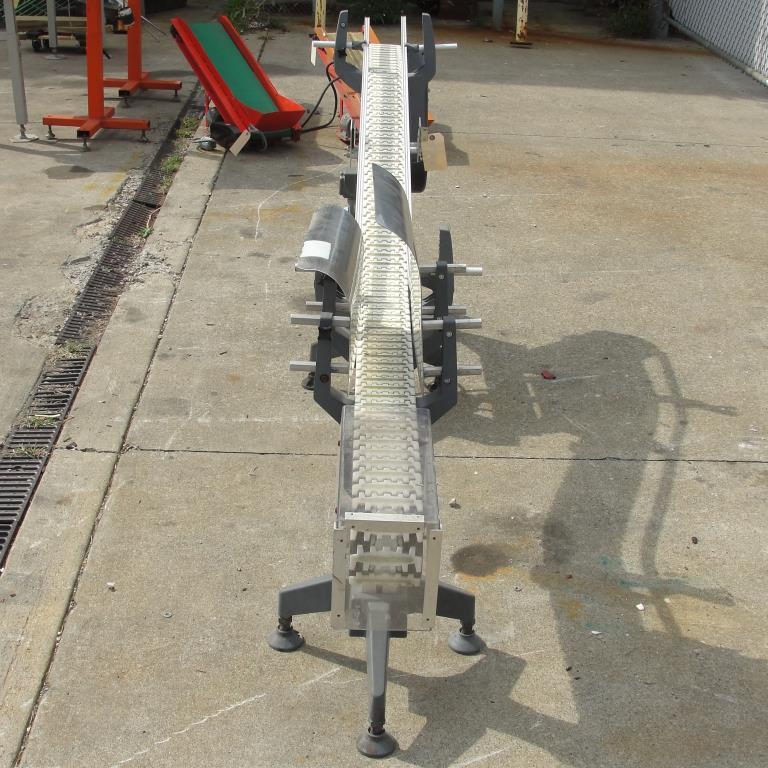 Conveyor inclined belt conveyor Aluminum, 4 w x 92 l, 32.75 discharge height6