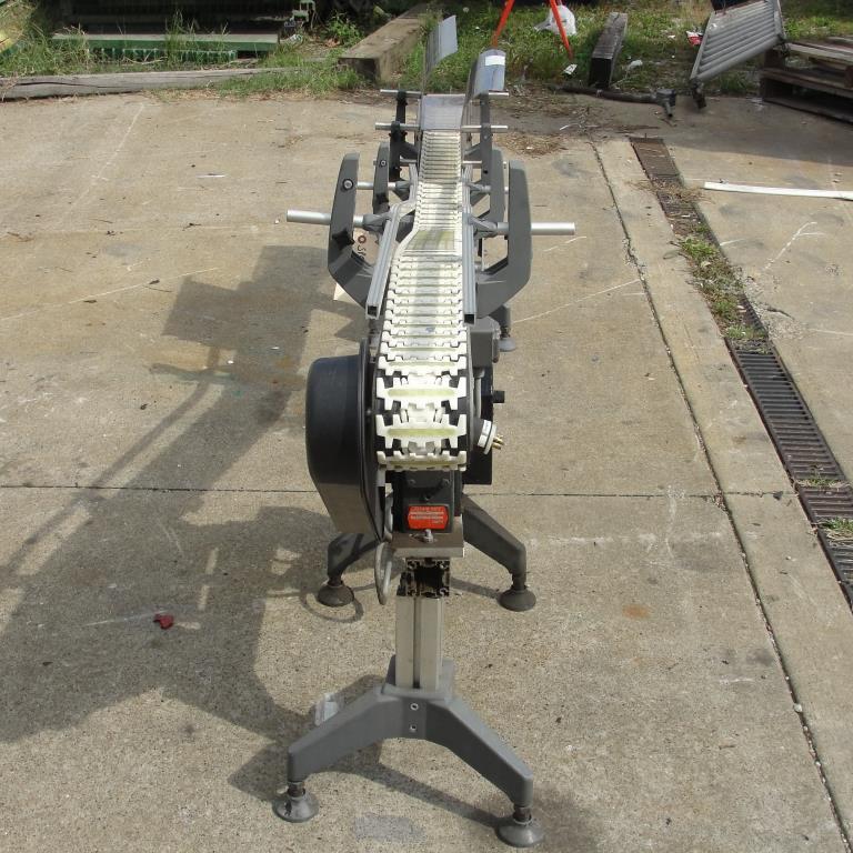 Conveyor inclined belt conveyor Aluminum, 4 w x 92 l, 32.75 discharge height7
