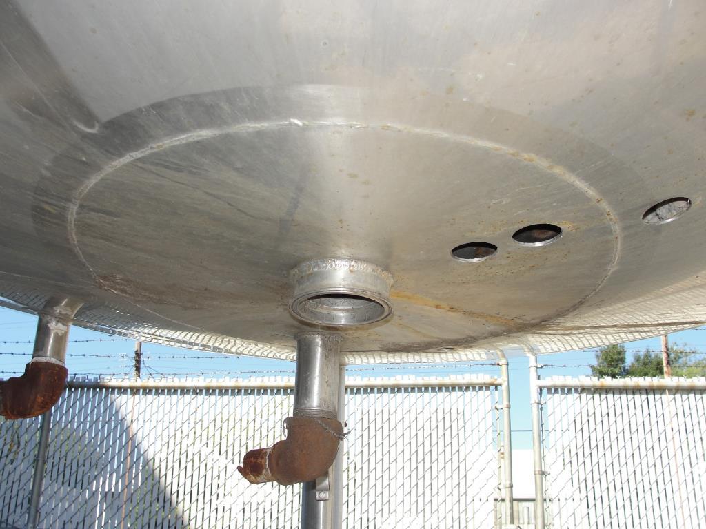 Tank 1000 gallon vertical tank, Stainless Steel, side scrape and paddle agitator, dish bottom4