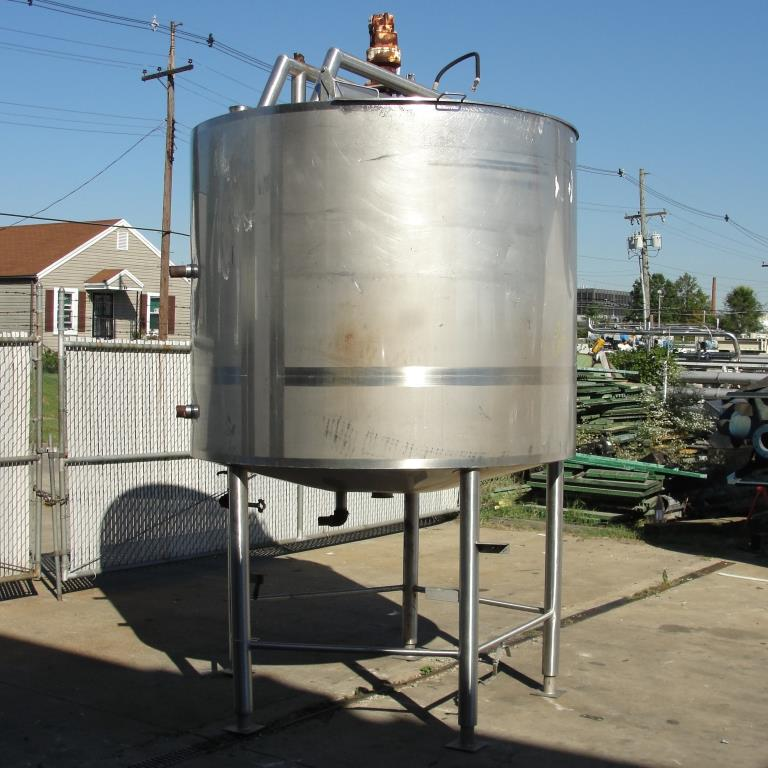Tank 1000 gallon vertical tank, Stainless Steel, side scrape and paddle agitator, dish bottom5