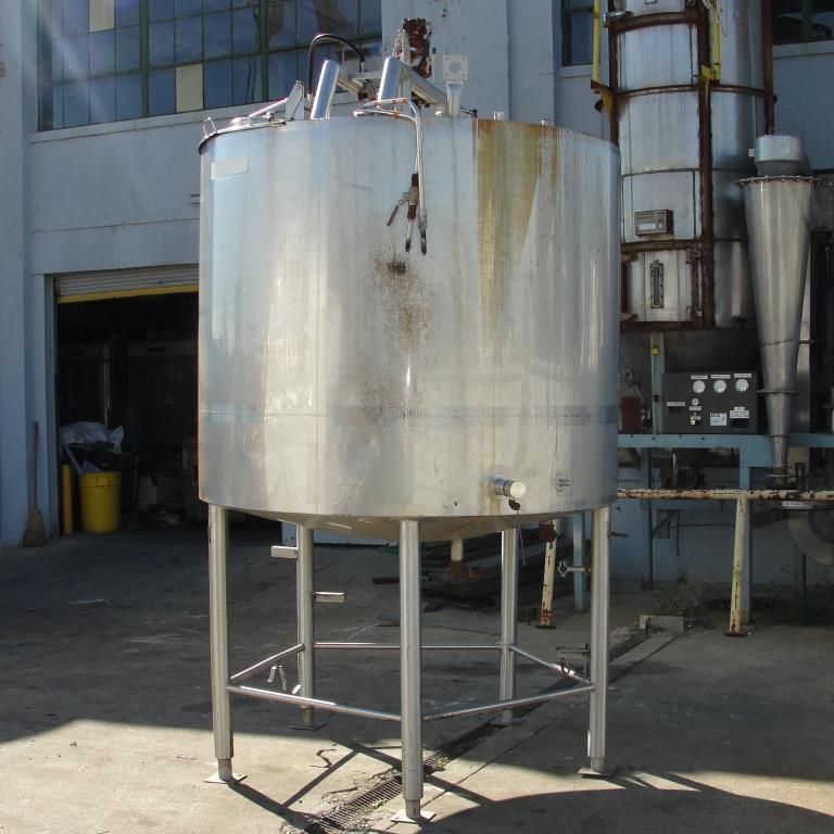 Tank 1000 gallon vertical tank, Stainless Steel, side scrape and paddle agitator, dish bottom7