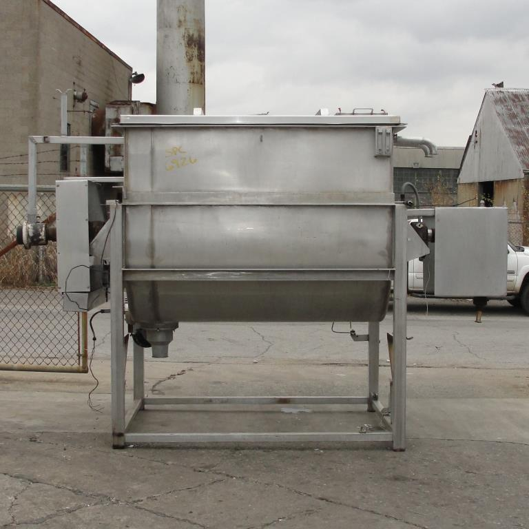 Kettle 650 gallon L & A Engineering processor kettle, agitator rotating tubular spiral, Stainless Steel, 60 sq.ft heat exchanger5