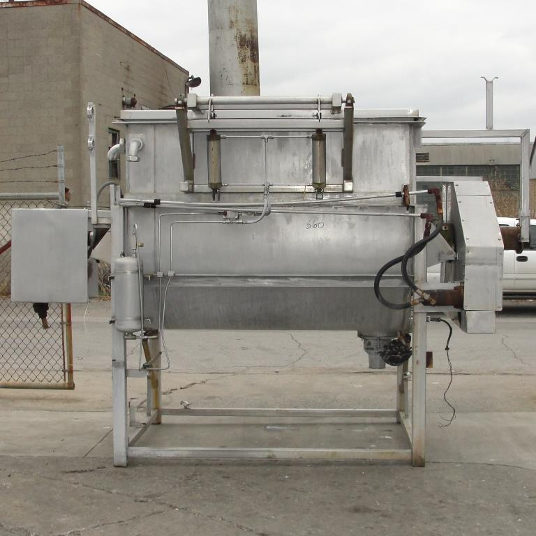 Kettle 650 gallon L & A Engineering processor kettle, agitator rotating tubular spiral, Stainless Steel, 60 sq.ft heat exchanger9