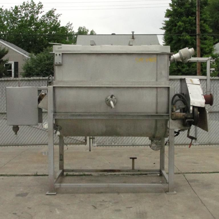 Kettle 650 gallon L and A Engineering processor kettle, agitator rotating tubular spiral heat exchanger, Stainless Steel