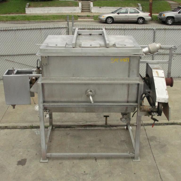 Kettle 650 gallon L & A Engineering processor kettle, agitator rotating tubular spiral heat exchanger, Stainless Steel8