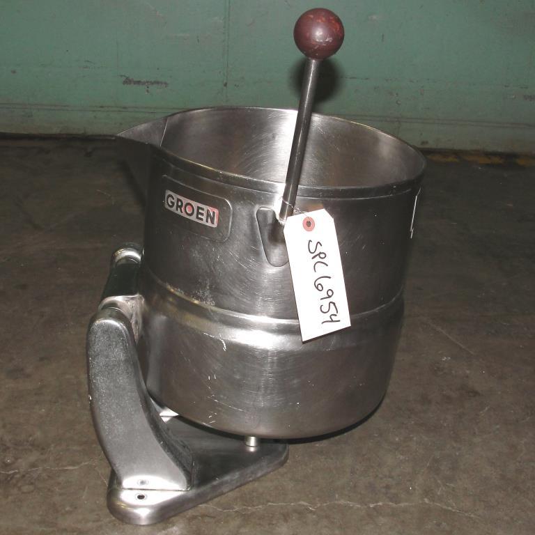 Kettle 5 gallon Groen hemispherical bottom kettle, 45 psi jacket rating, Stainless Steel1