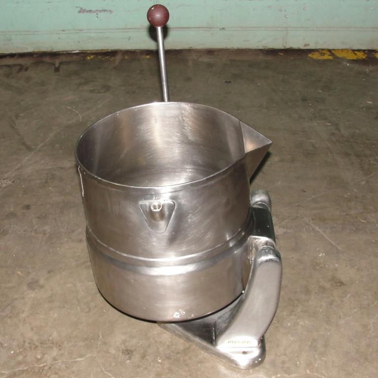 Kettle 5 gallon Groen hemispherical bottom kettle, 45 psi jacket rating, Stainless Steel4